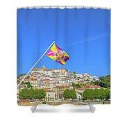 Coimbra Skyline Portugal Shower Curtain