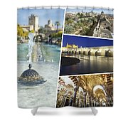 Collage Of Cordoba  Shower Curtain