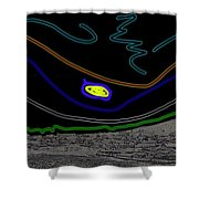Collage Tombstone Arizona 1882 Vincent Van Gogh Starry Night Sky 1887-2008 Shower Curtain