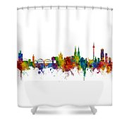 Cologne Germany Skyline Shower Curtain