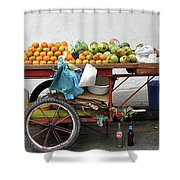 Colombia Fruit Cart Shower Curtain