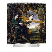 Colonel Acland And Lord Sydney - The Archers Shower Curtain