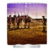 Colonial Soldiers At Fort Mifflin Shower Curtain