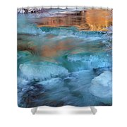 Color Of Winter Shower Curtain