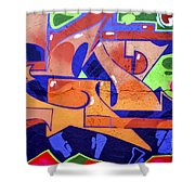Colorful Abstract Street Art  Shower Curtain