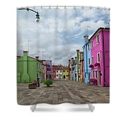 Colorful Burano Shower Curtain