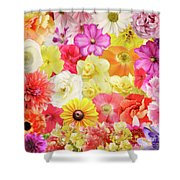 Colorful Floral Background Shower Curtain
