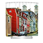 Colorful Houses In St. Johns In Newfoundland Shower Curtain