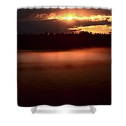 Colorful Skies Nearing Sunset Shower Curtain