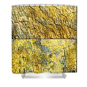 Colorful Slate Tile Abstract Composite V3 Shower Curtain