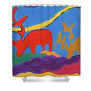 Colorful Street Art Shower Curtain