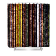 Colorful Vertical Stripes Background In Vintage Retro Style Shower Curtain