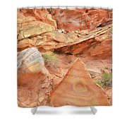Colorful Wash 3 In Valley Of Fire Shower Curtain
