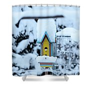 Colors In The Snow Shower Curtain