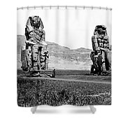 Colossi Of Memnon, Valley Of The Kings Shower Curtain