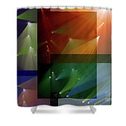 Coloured Lights II Shower Curtain