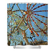 Colourful Canopy Shower Curtain
