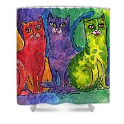 Colourful Cats Shower Curtain