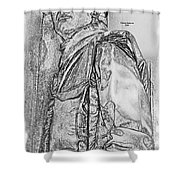 Combat Airman Shower Curtain