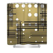 Composition 1 Shower Curtain