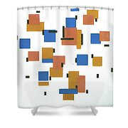 Composition With Colours Shower Curtain
