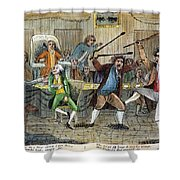 Congressional Pugilists Shower Curtain