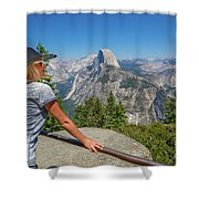 Contemplating Glacier Point Shower Curtain