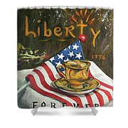 Contemplating Liberty Shower Curtain