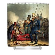 Conventional Battle Scene Shower Curtain