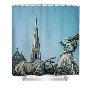 Copenhagen Gefion Fountain Shower Curtain