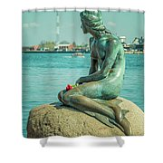 Copenhagen Little Mermaid Shower Curtain