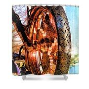 Copper Bike Liberty Ambassador Ny Shower Curtain