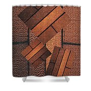 Copper Plate Abstract Shower Curtain