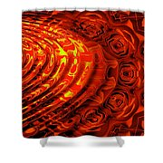 Copper Rose Shower Curtain