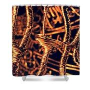 Copper Wirework Shower Curtain