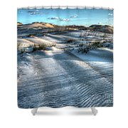 Coquina Beach, Cape Hatteras, North Carolina Shower Curtain