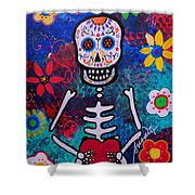 Corazon Day Of The Dead Shower Curtain