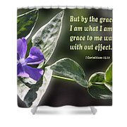 1 Corinthians 15 Vs 10 Lavender Blossom Shower Curtain