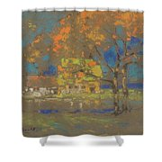 Cottage Amongst The Trees Shower Curtain