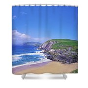 Coumeenoole Beach, Dingle Peninsula, Co Shower Curtain