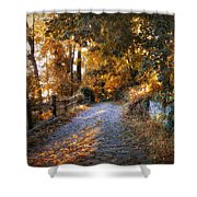 Country Cobblestone Shower Curtain