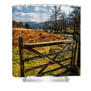 Countryside Gate Shower Curtain
