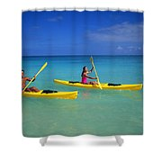 Couple Paddling Shower Curtain