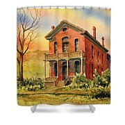 Courthouse Bannack Ghost Town Montana Shower Curtain