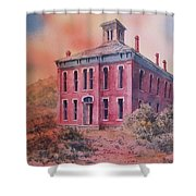 Courthouse Belmont Ghost Town Nevada Shower Curtain