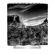 Courthouse Butte And Bell Rock Sedona Arizona Shower Curtain
