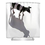 Cow Figurine Shower Curtain