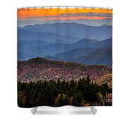 Cowee Overlook. Shower Curtain