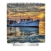 Crabbing Boat Donna Danielle - Smith Island, Maryland Shower Curtain