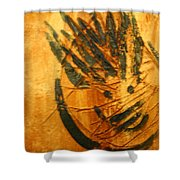 Crazy Pineapple - Tile Shower Curtain